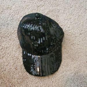 Accessories - Glitter black juniors cap